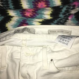 Guess Jeans - White Guess ripped look jeans